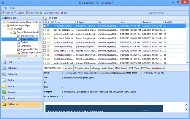 Recover Data From Corrupt PST File