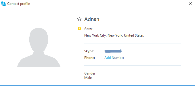export skype contacts to csv - contact profile
