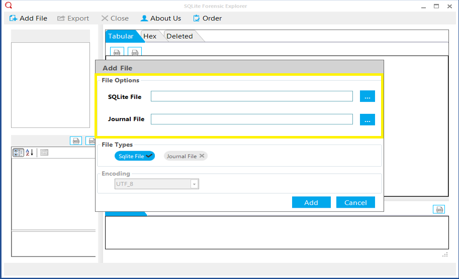 add sqlite file - export skype contacts to csv