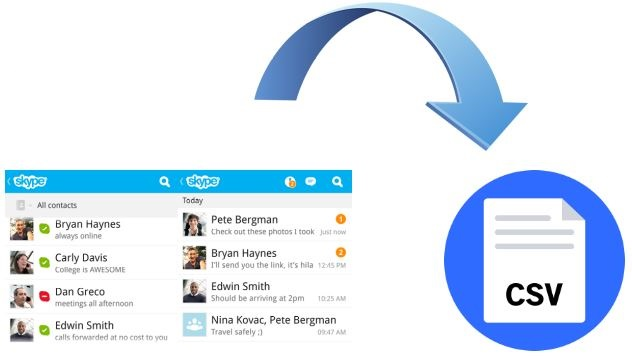 Useful Guide to Export Skype Contacts to CSV File Format
