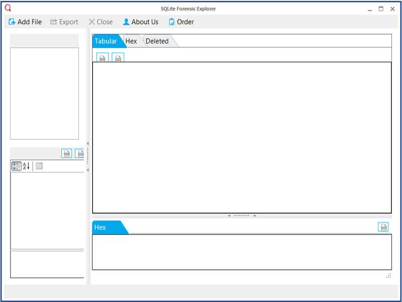 Click to view SQLite Forensics Viewer screenshots